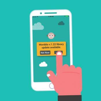 Анимирано рекламно explainer видео за мобилно приложение Worddio 12