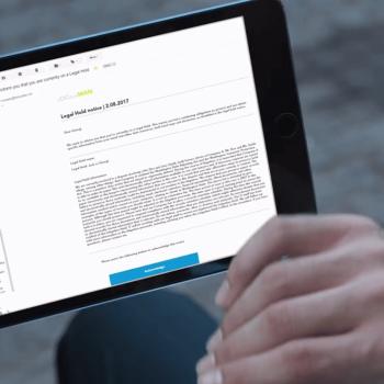 Видеозаснемане и изработка на видео реклама за правен софтуер - LegalHoldMan 11