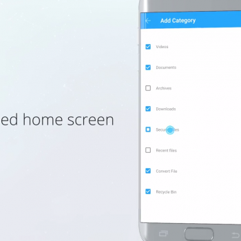 Анимирано рекламно видео за File Commander [приложение за Android] 8