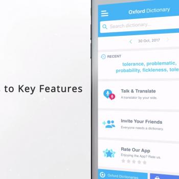 Анимирано видео за мобилното приложение за iOS Oxford Dictionary of English 9
