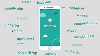 Анимирано рекламно explainer видео за мобилно приложение Worddio 4