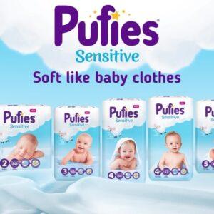 изработка на анимиран видеоклип за Pufies Бебешки пелени Ficosota