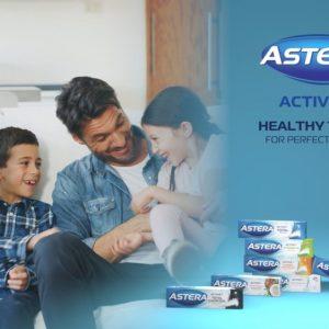 изработка на 3д тв реклама пасти за зъби Astera Active+