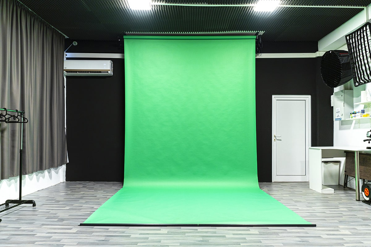 снимачно студио Studio246 зелен екран зелен фон