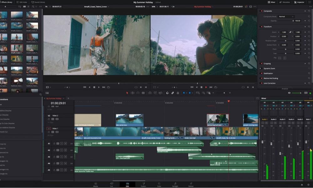 DaVinci Resolve Free - безплатна програма за видео монтаж