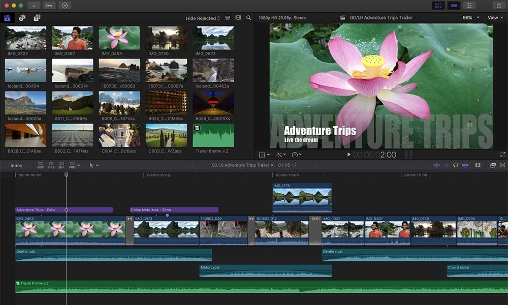 Final Cut Pro X - програма за видео монтаж