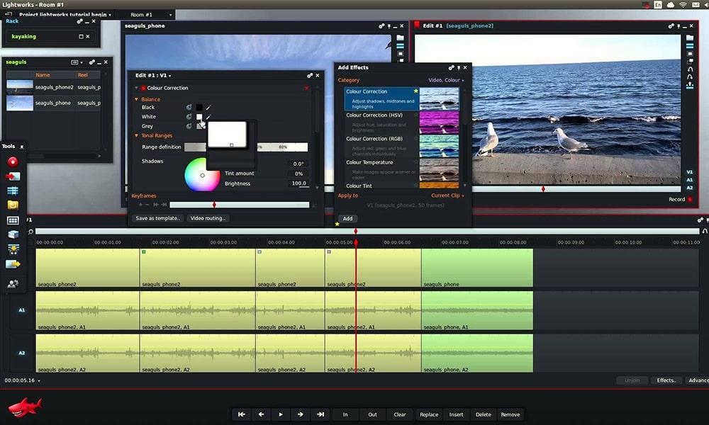 Lightworks - безплатна програма за видео монтаж