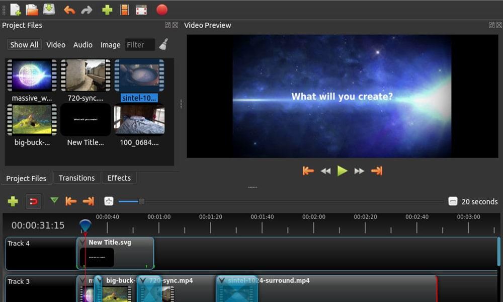 Openshot - безплатен софтуер за видео монтаж