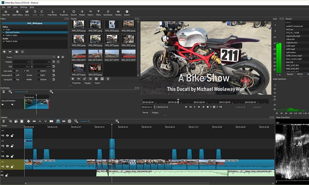 Shotcut - безплатна програма за видео обработка