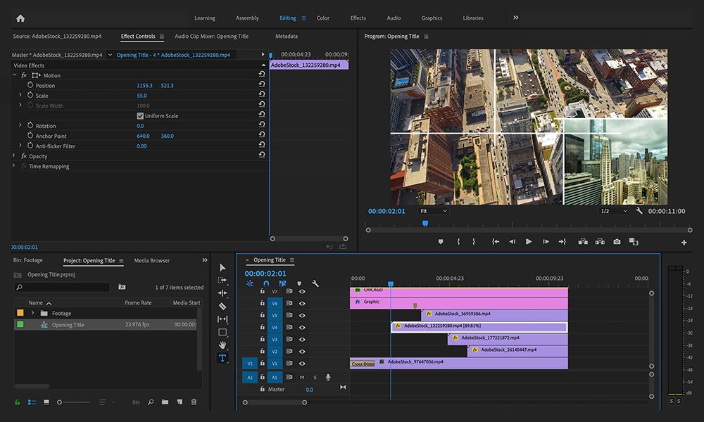 Adobe Premiere Pro - видео софтуер